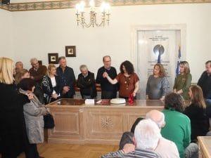Eκδήλωση κοπής της πρωτοχρονιάτικης πίτας του σωματείου εργαζομένων Περιφέρειας Πελοποννήσου στην Τρίπολη