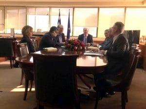 Συνάντηση του περιφερειάρχη Πελοποννήσου Παναγιώτη Νίκα με τον υπουργό Περιβάλλοντος και Ενέργειας Κωστή Χατζηδάκη