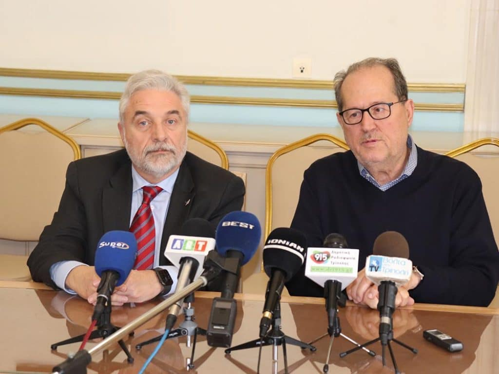 Συνάντηση περιφερειάρχη Πελοποννήσου Παναγιώτη Νίκα με τον διευθύνοντα σύμβουλο της ΤΡΑΙΝΟΣΕ Φίλιππο Τσαλίδη.