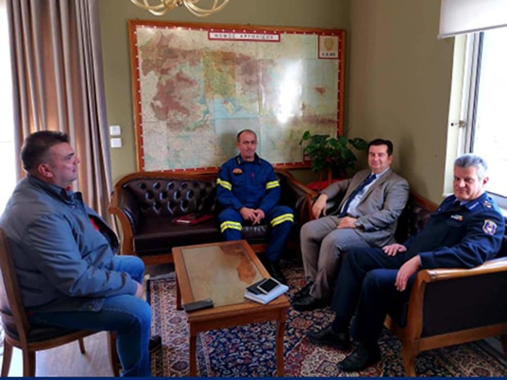 Με τον νέο περιφερειακό διοικητή της Π.Υ. Πελοποννήσου συναντήθηκε ο Γ. Μαλτέζος
