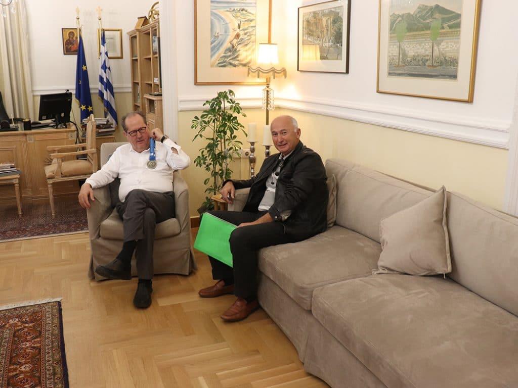 Συνάντηση του Περιφερειάρχη Πελοποννήσου με το μέλος του Δ.Σ. του ΣΕΓΑΣ Γιάννη Μπόλα