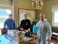 Υλικό κατά του κορωνοϊού παραδόθηκε στο ΕΚΑΒ Ναυπλίου από την Π.Ε. Αργολίδας