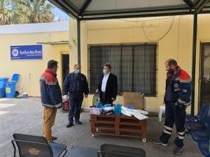 Υποστήριξη φορέων της Μεσσηνίας με υγειονομικό υλικό