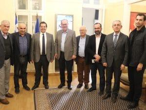 Συνάντηση Περιφερειάρχη Πελοποννήσου με τον πρύτανη του Μετσόβιου Α. Μπουντουβή