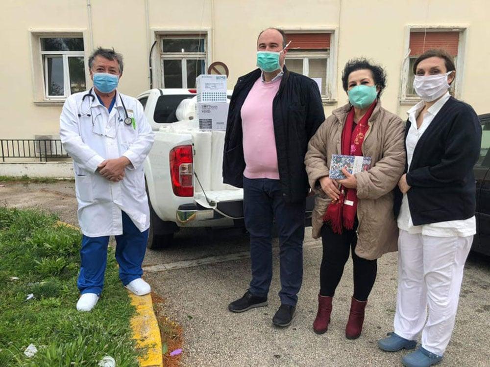 Υγειονομικό υλικό παρέδωσε η Περιφέρεια στο Γ.Ν. Κορίνθου