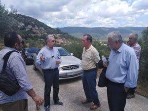 Θέματα της Καρύταινας συζήτησε ο αντιπεριφερειάρχης Αρκαδίας Χρ. Λαμπρόπουλος
