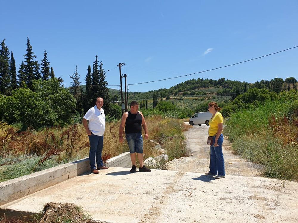 Αυτοψία σε ζημιές από κακοκαιρία σε Σπαθοβούνι 23-06-2020