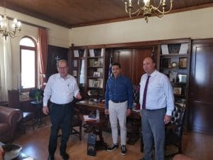 Συνάντηση του περιφερειάρχη με τον πρόεδρο του Τουριστικού Οργανισμού Λουτρακίου (LTO) Σπύρο Καραβούλη