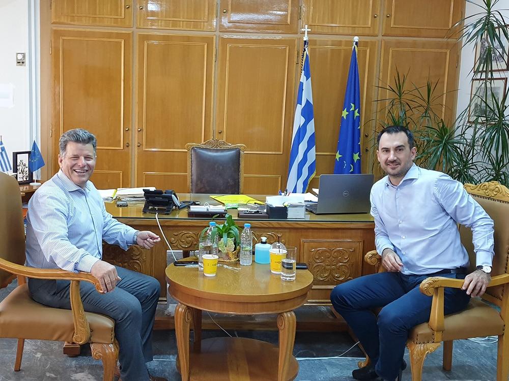 Συνάντηση του αντιπεριφερειάρχη Μεσσηνίας Στ. Αναστασόπουλου με τον βουλευτή και τ. υπουργό Αλέξη Χαρίτση