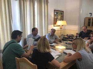 Θέματα της Π.Ε. Κορινθίας σε σύσκεψη υπό τον περιφερειάρχη Π. Νίκα