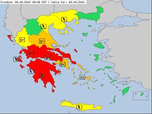 Μέχρι και το πρωί της Κυριακής θα επηρεάζει ο «Ιανός» την Περιφέρεια Πελοποννήσου