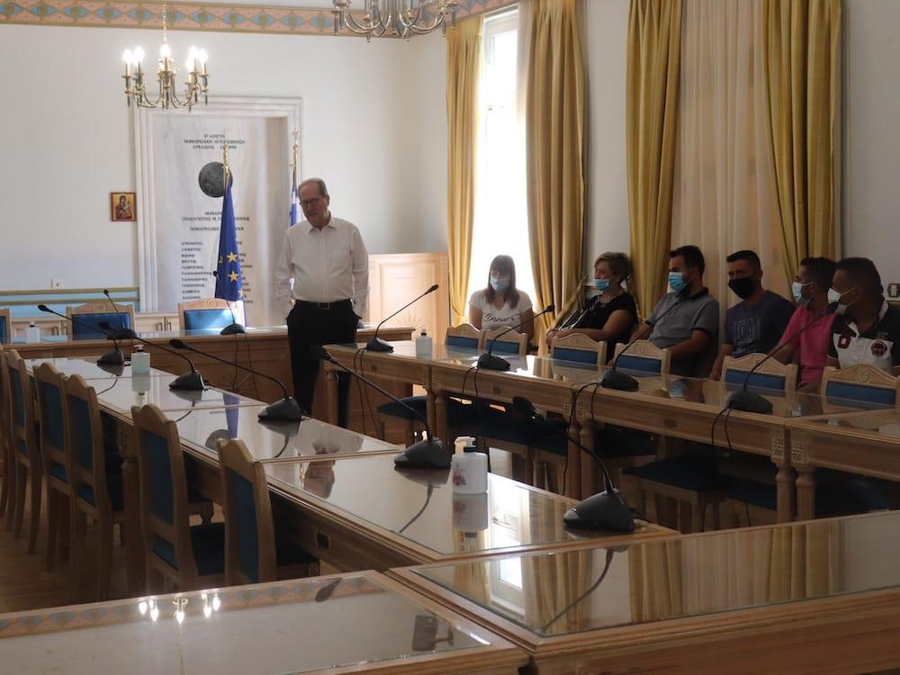 Ανέλαβαν υπηρεσία στην Περιφέρεια Πελοποννήσου οι τετραμηνίτες συμβασιούχοι