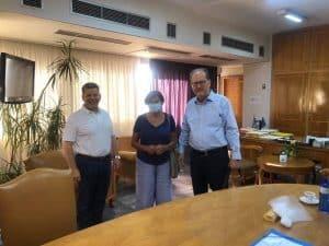 Συνάντηση του περιφερειάρχη Π. Νίκα με την Κλ. Φλέσσα