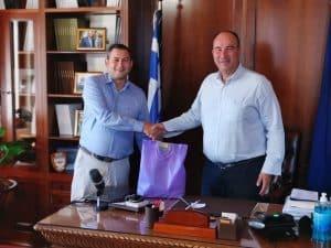 Συνάντηση του αντιπεριφερειάρχη Κορινθίας με τον αρμόδιο για την Αγροτική Ανάπτυξη αντιπεριφερειάρχη Δυτικής Ελλάδας