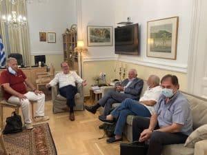 Συνάντηση εργασίας του περιφερειάρχη Π. Νίκα με τον Στ. Κυριακούλη