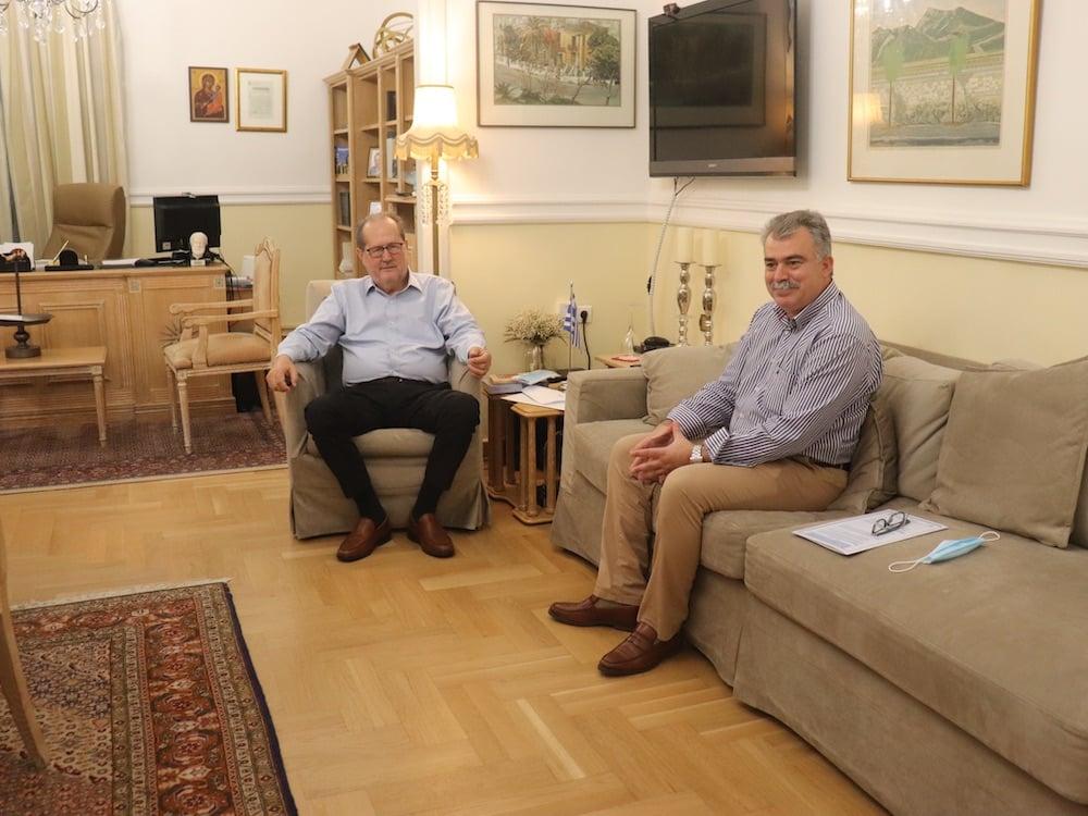 Ο περιφερειάρχης Πελοποννήσου Π. Νίκας συναντήθηκε με τον βουλευτή Αργολίδας Α. Πουλά