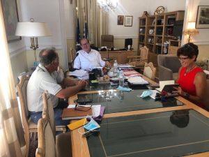 Συνάντηση του περιφερειάρχη Πελοποννήσου Π. Νίκα για το Βιομηχανικό Πάρκο Μεγαλόπολης