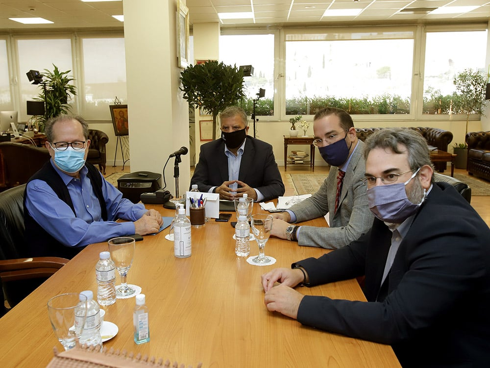 Συνάντηση του Π. Νίκα με Γ. Πατούλη και Ν. Φαρμάκη στην Αθήνα