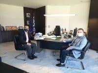 Συνάντηση του αντιπεριφερειάρχη Λακωνίας Θ. Βερούτη με τον βουλευτή Στ. Αραχωβίτη