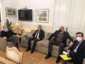 Ζητήματα του Δήμου Ερμιονίδας συζήτησε ο περιφερειάρχης Π. Νίκας με τον αντιπεριφερειάρχη Αργολίδας και τον δήμαρχο