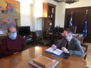 """Π. Νίκας στη συνάντηση με τον Στ. Πέτσα, """"επιβάλλεται να προχωρήσουν ταχύτατα οι μεταρρυθμίσεις στην αυτοδιοίκηση"""""""