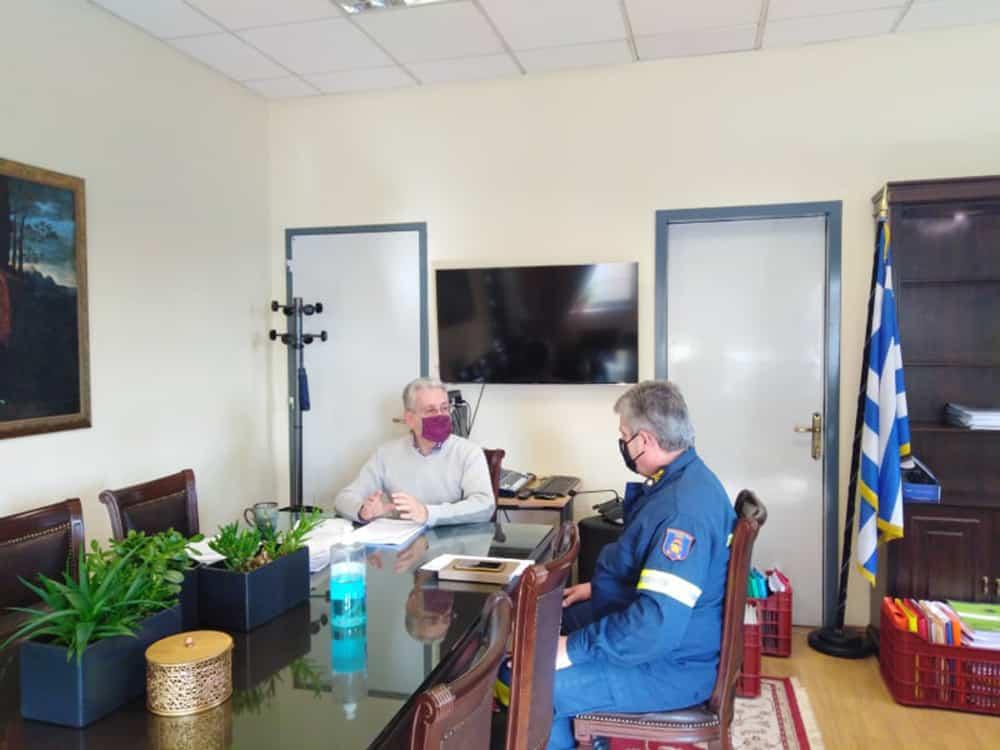 Συνάντηση αντιπεριφερειάρχη Αρκαδίας με τον διοικητή της ΠΕΠΥΔ Πελοποννήσου