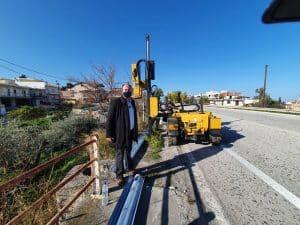 Εργα για την οδική ασφάλεια στο οδικό δίκτυο της Π.Ε. Κορινθίας