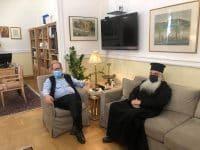 Συνάντηση του περιφερειάρχη Π. Νίκα με τον μητροπολίτη Αργολίδας Νεκτάριο