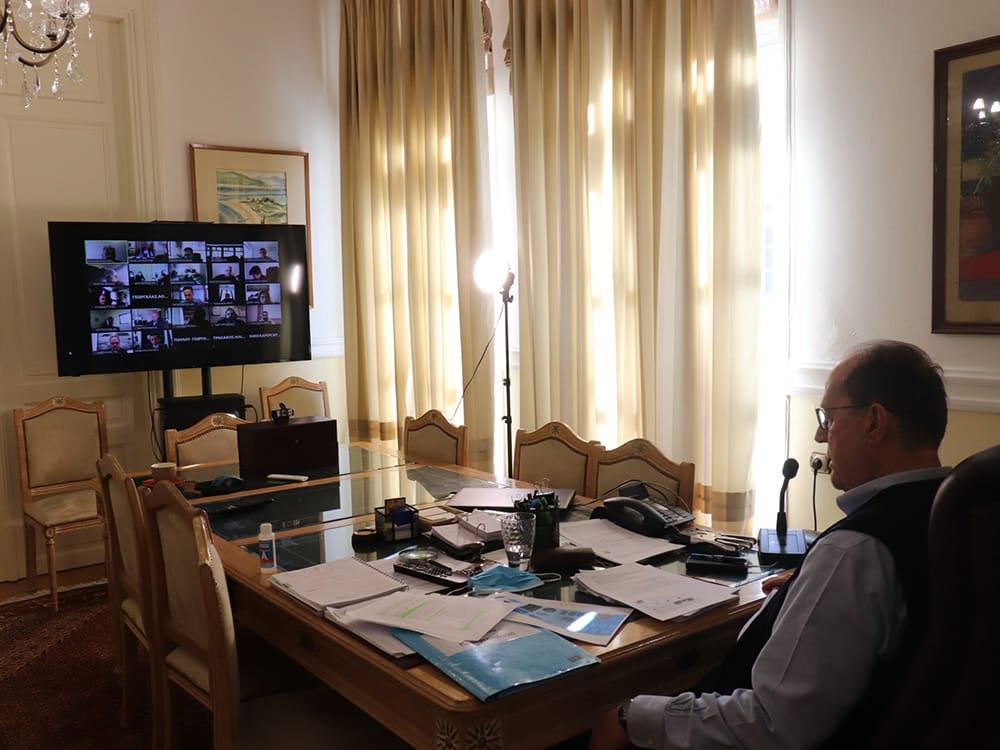 Σε διαβούλευση για το επιχειρησιακό σχέδιο στον τομέα του πόσιμου νερού μετείχε ο περιφερειάρχης Πελοποννήσου Π. Νίκας