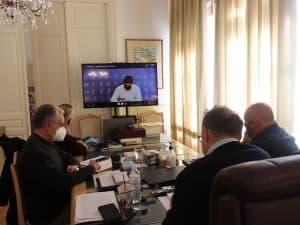 Τηλεσύσκεψη του περιφερειάρχη Πελοποννήσου Π. Νίκα με τον υφυπουργό Αθλητισμού Λ. Αυγενάκη