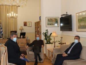 Ο περιφερειάρχης Πελοποννήσου Π. Νίκας συναντήθηκε με τον δήμαρχο Τρίπολης Κ. Τζιούμη