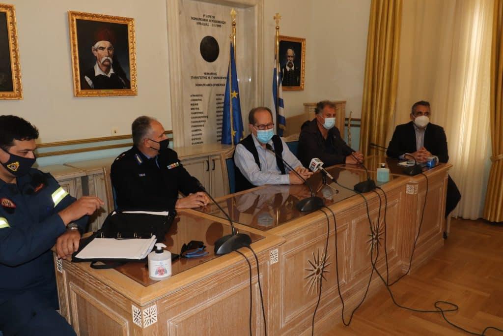Αντιπροσωπεία του Πυροσβεστικού Σώματος επισκέφθηκε την Τρίπολη για την ίδρυση της 9ης ΕΜΑΚ