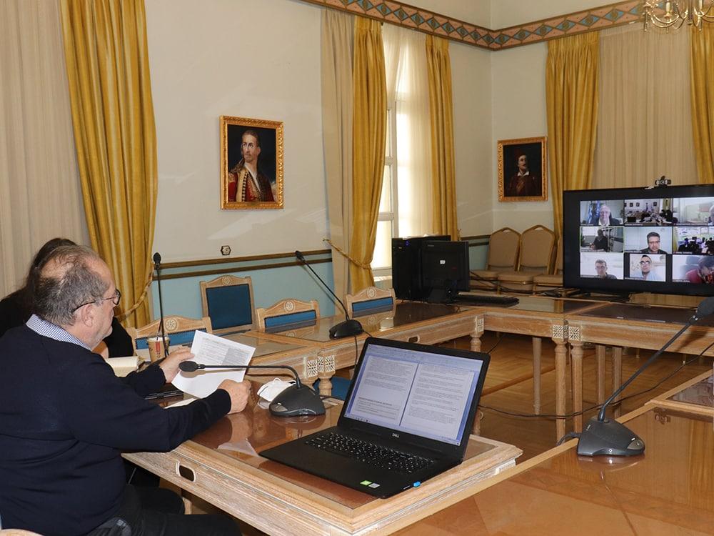 Η πορεία των έργων ΕΣΠΑ στην Π.Ε. Λακωνίας εξετάστηκε σε τηλεσύσκεψη υπό τον περιφερειάρχη Π. Νίκα