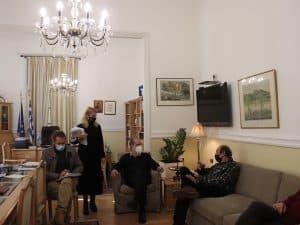 Συνάντηση του περιφερειάρχη Πελοποννήσου Π. Νίκα με τον σκηνοθέτη Μ. Μανουσάκη