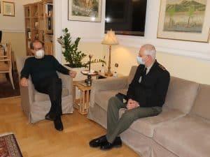Ο περιφερειάρχης Πελοποννήσου Π. Νίκας συναντήθηκε με τον νέο διοικητή ΔΙΚΕ
