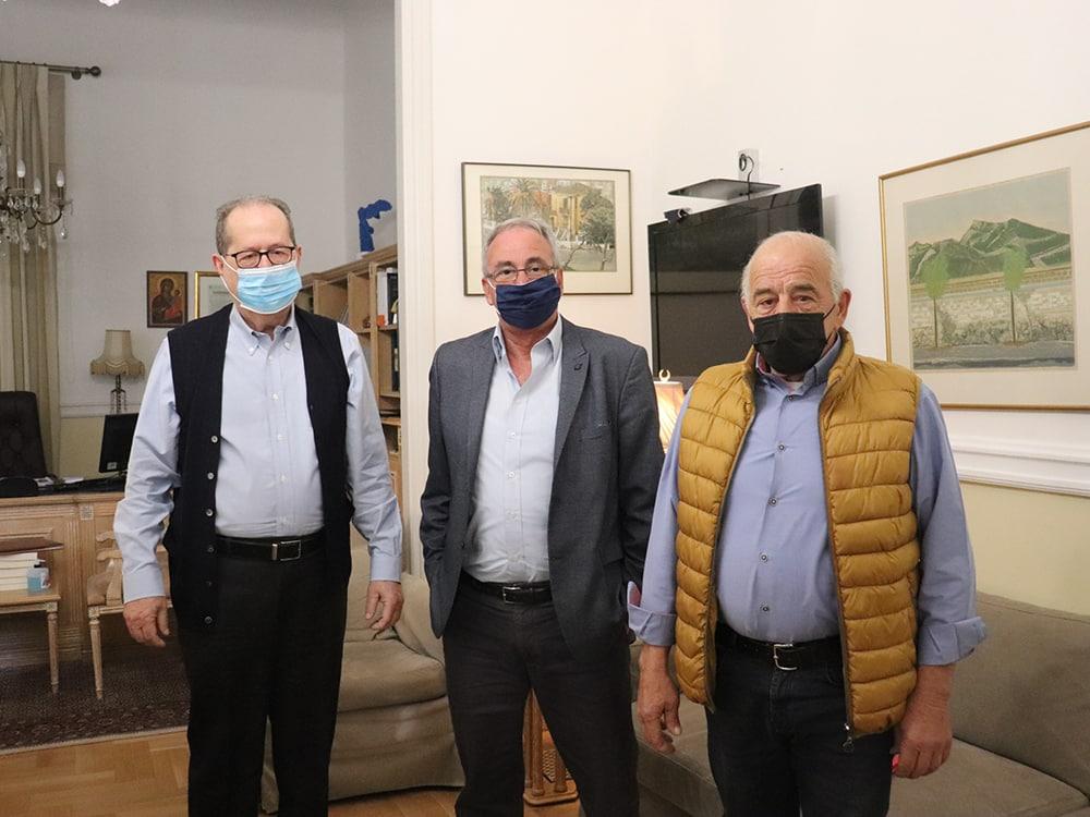 Συνάντηση του περιφερειάρχη Πελοποννήσου Π. Νίκα με τον δήμαρχο Νεμέας Κ. Φρούσιο