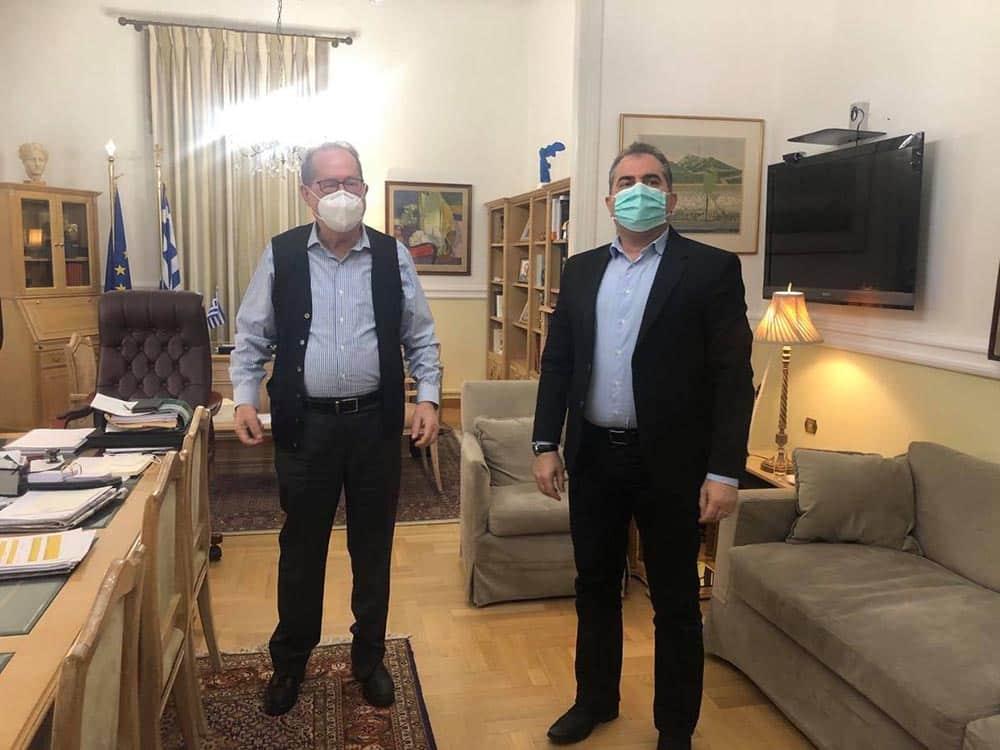 Συνάντηση του περιφερειάρχη Πελοποννήσου Π. Νίκα με τον δήμαρχο Καλαμάτας Θ. Βασιλόπουλο