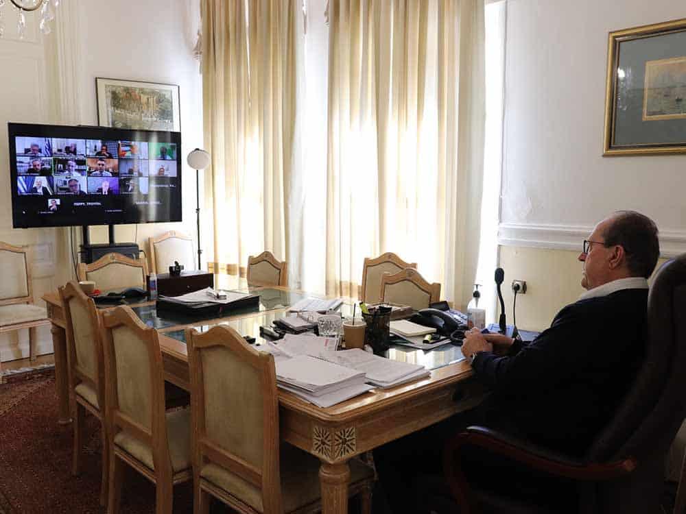 Τηλεδιάσκεψη με τον Υπουργό Οικονομικών Χρήστο Σταϊκούρα