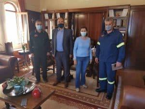 Συνάντηση Αντιπεριφερειάρχη με στελέχη της Πυροσβεστικής Υπηρεσίας