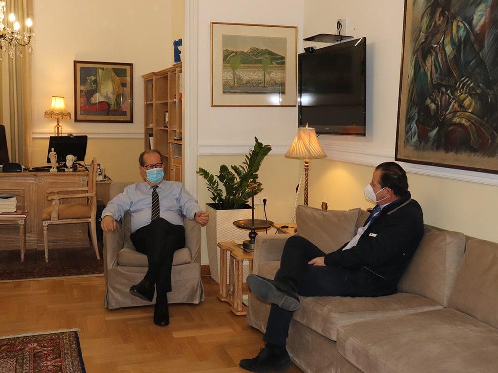 Συνάντηση Περιφερειάρχη με τον Πρόεδρο του Ιατρικού Συλλόγου Αρκαδίας