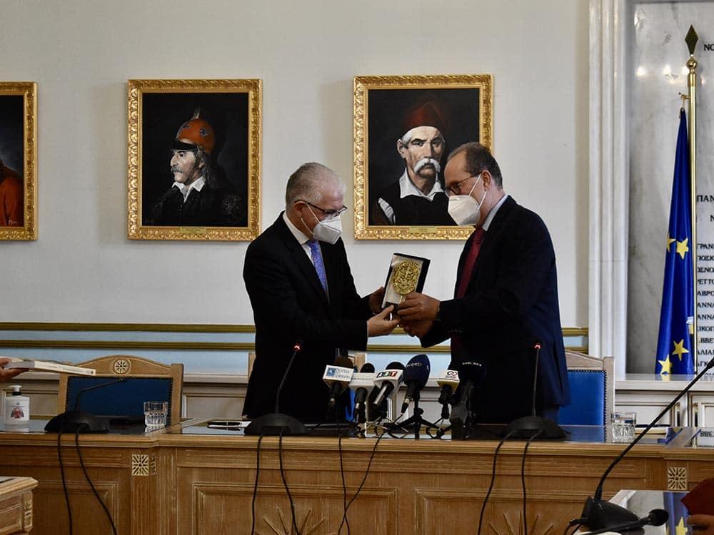 Συνεργασία του Περιφερειάρχη με τον Πρόεδρο του ΕΛΓΑ