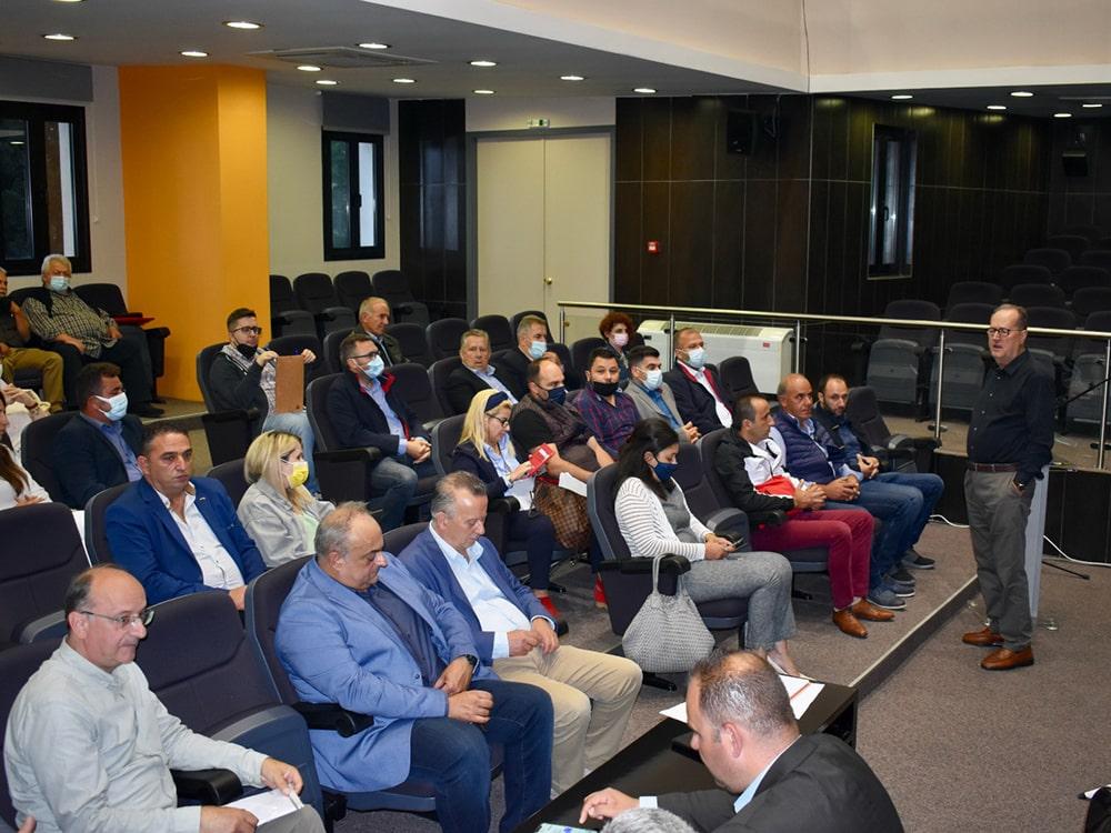 Συνεργασία της Περιφέρειας με την αυτοδιοίκηση και φορείς της Γορτυνίας στην επίσκεψη του περιφερειάρχη Π. Νίκα χθες Πέμπτη στη Δημητσάνα