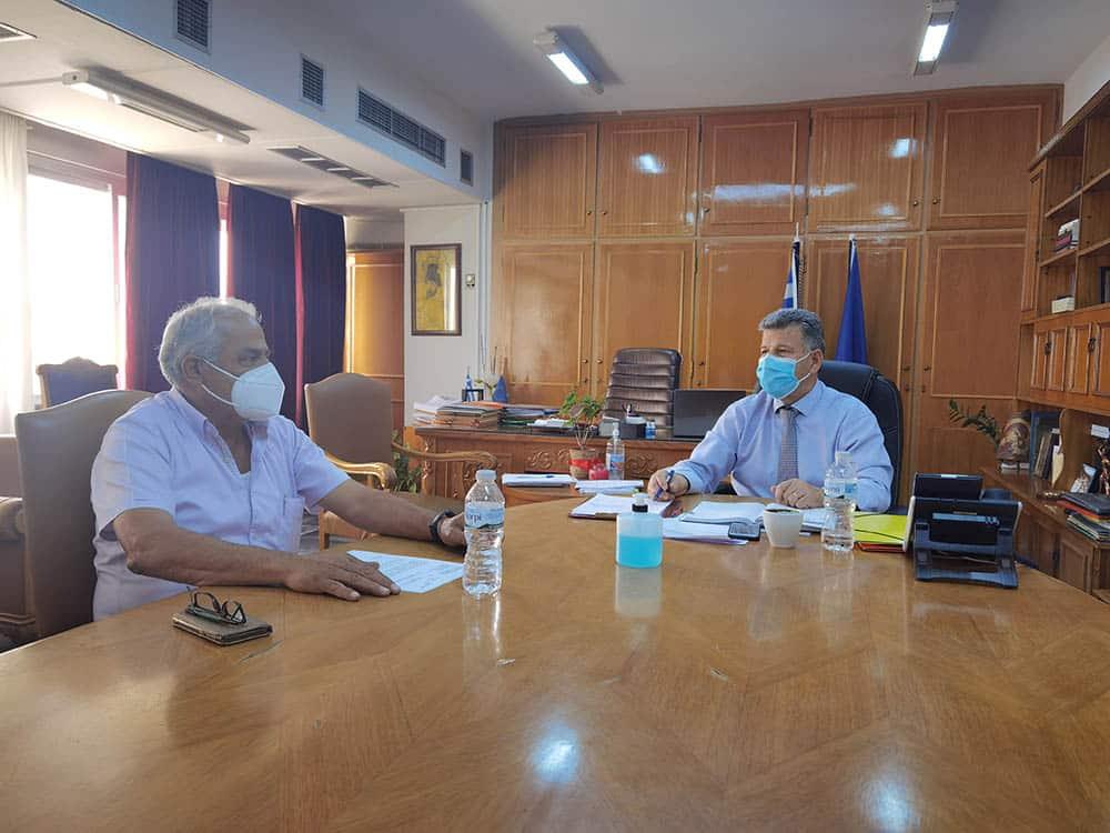 Συνάντηση στην Π.Ε. Μεσσηνίας με τον πρόεδρο του Καλού Νερού