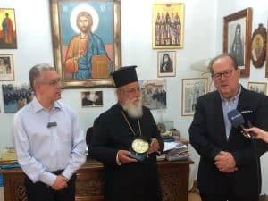 Συνάντηση του περιφερειάρχη Πελοποννήσου Π. Νίκα με τον Μαντινείας και Κυνουρίας Αλέξανδρο