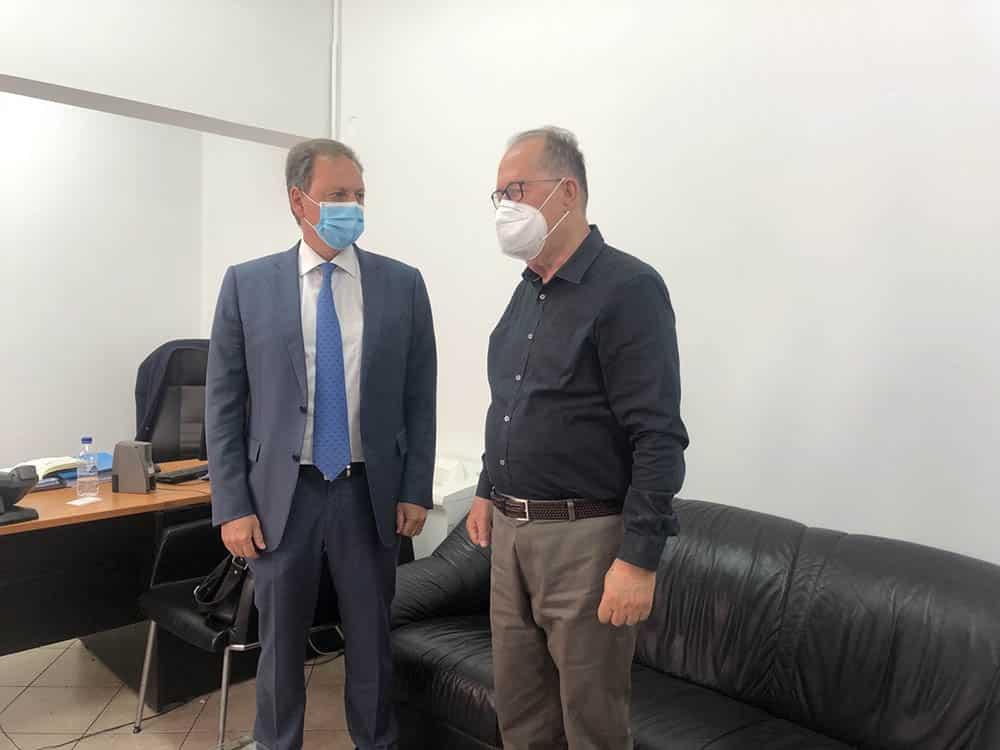 Ο περιφερειάρχης Πελοποννήσου Π. Νίκας συναντήθηκε με τον υπουργό Αγροτικής Ανάπτυξης και Τροφίμων Σπ. Λιβανό