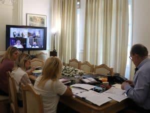 Η συμμετοχή της Περιφέρειας Πελοποννήσου στην φετινή ΔΕΘ αντικείμενο τηλεδιάσκεψης του περιφερειάρχη Π. Νίκα