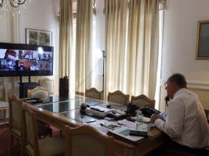 Τηλεδιάσκεψη του περιφερειάρχη Πελοποννήσου Π. Νίκα με τις Διευθύνσεις Μεταφορών της Περιφέρειας – ξεκίνησαν οι έλεγχοι στα ιδιωτικά ΚΤΕΟ