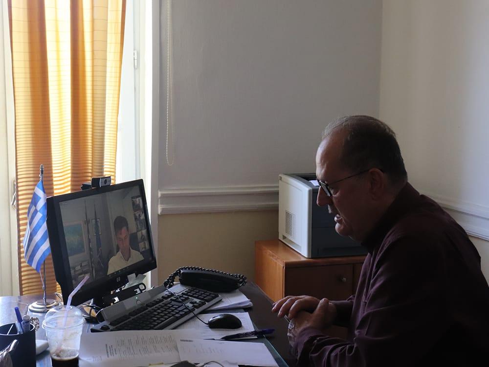 Θέματα τουρισμού συζήτησε ο περιφερειάρχης Π. Νίκας σε τηλεδιάσκεψη με τον υπουργό Χ. Θεοχάρη