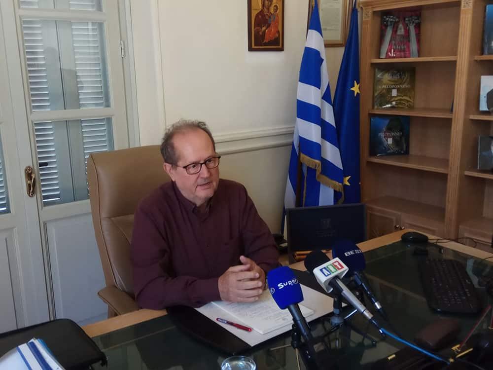 """Π. Νίκας, """"πρέπει να ενταθεί ο ρυθμός εμβολιασμών στην Περιφέρεια Πελοποννήσου"""""""