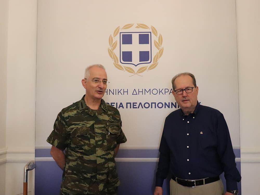 Συνάντηση του περιφερειάρχη Πελοποννήσου Π. Νίκα με τον διοικητή ΔΙΚΕ (IV ΜΠ)